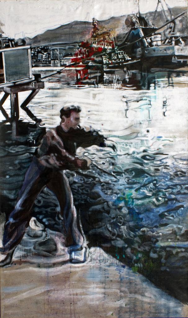 cuadro 4, 300 x 180 cm, témpera sobre lino