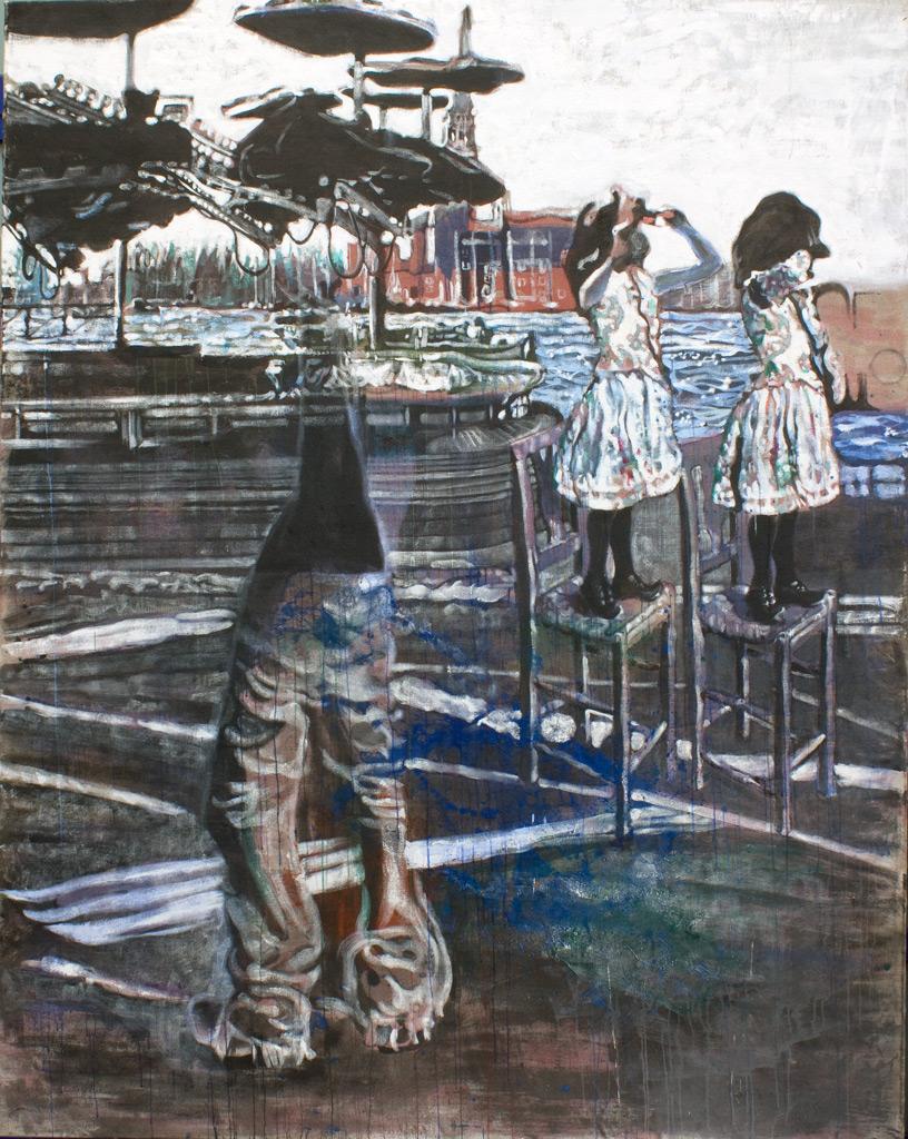 cuadro 11, 250 x 200 cm, témpera sobre lino