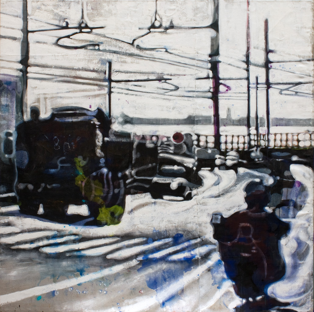 cuadro 13, 180 x 180 cm, témpera sobre lino