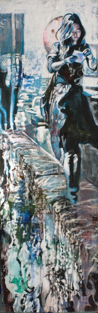 cuadro 2, 250 x 80 cm, témpera sobre lino