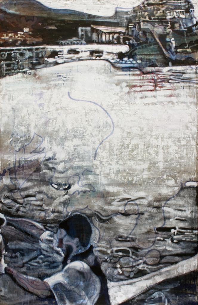 cuadro 5, 230 x 150 cm, témpera sobre lino