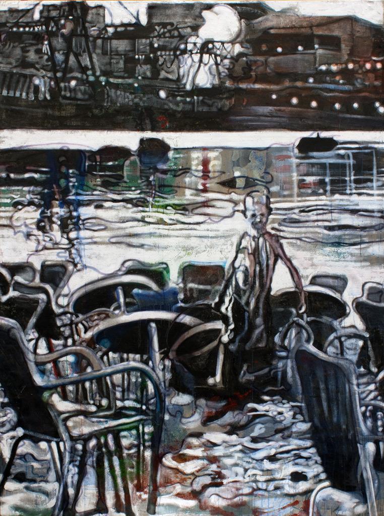 cuadro 8, 240 x 180 cm, témpera sobre lino