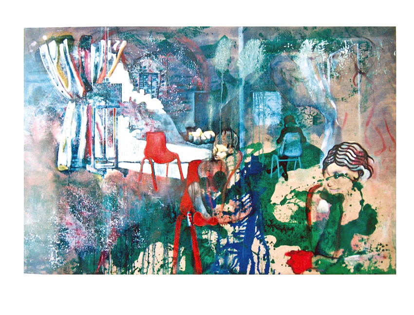 La risa de mi retina, 2001, témpera y óleo sobre tela, 97 x 147 cm