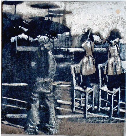 Secuencia imaginada. Nivel 1. Cuadro 11, 2004, 16,7 x 15,6 cm