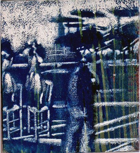 Secuencia imaginada. Nivel 1. Cuadro 16, 2004, 17,6 x 16 cm