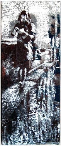 Secuencia imaginada. Nivel 1. Cuadro 25, 2004, 17,5 x 7 cm