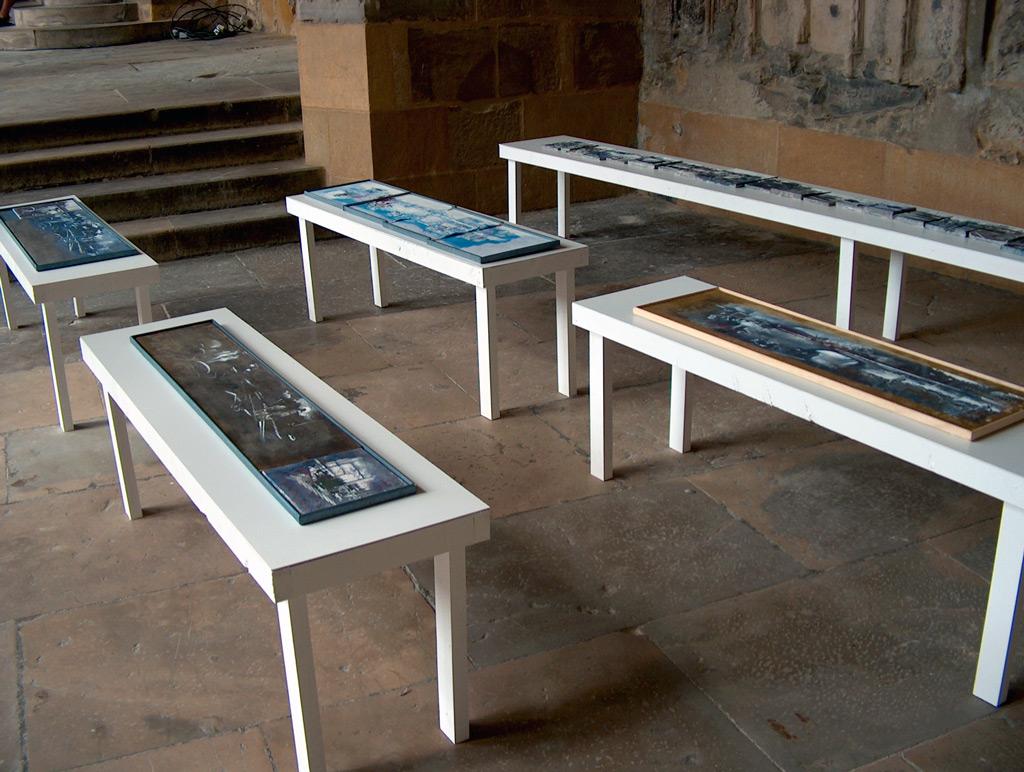 """Secuencia imaginada. Nivel 1, """"Le Cloître 2005. Mémoire des lieux"""" , Cathedrale de Bayonne, 2005"""