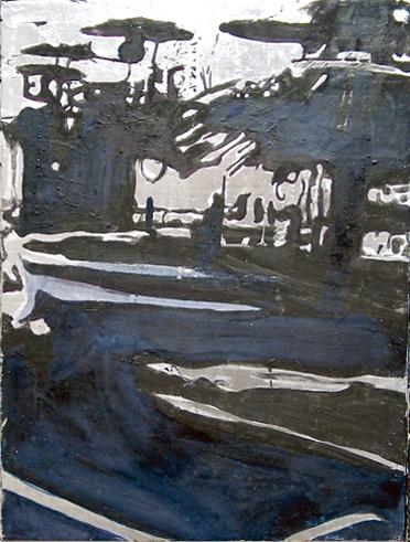 Secuencia imaginada. Nivel 2. Cuadro 10, 2006, témpera y pan de plata sobre tabla, 34,5 x 26 cm