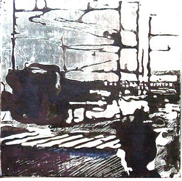 Secuencia imaginada. Nivel 2. Cuadro 13, 2006, témpera y pan de plata sobre tabla, 26 x 26 cm