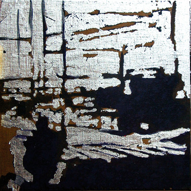 Secuencia imaginada. Nivel 2. Cuadro 14, 2006, témpera y pan de plata sobre tabla, 26 x 26 cm