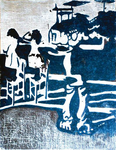 Secuencia imaginada. Nivel 2. Cuadro 16, 2006, témpera y pan de plata sobre tabla, 36 x 28,5 cm
