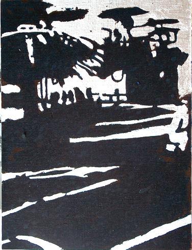 Secuencia imaginada. Nivel 2. Cuadro 17, 2006, témpera y pan de plata sobre tabla, 34,5 x 26 cm