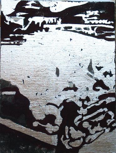 Secuencia imaginada. Nivel 2. Cuadro 22, 2006, témpera y pan de plata sobre tabla, 34,5 x 26 cm