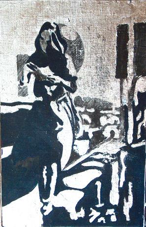 Secuencia imaginada. Nivel 2. Cuadro 25, 2006, témpera y pan de plata sobre tabla, 23 x 21,5 cm