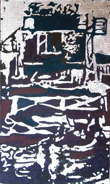 Secuencia imaginada. Nivel 2. Cuadro 26, 2006, témpera y pan de plata sobre tabla, 43,5 x 26 cm