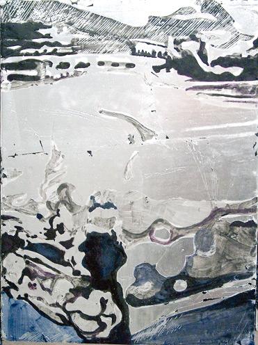 Secuencia imaginada. Nivel 2. Cuadro 5, 2006, témpera y pan de plata sobre tabla, 34,5 x 26 cm cm