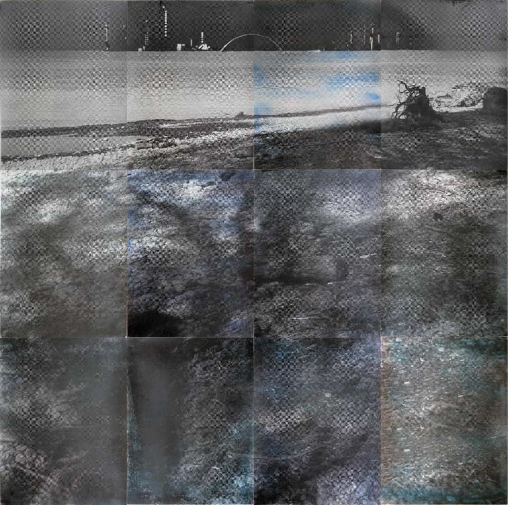 sueño del observador 3, 2013, 300 x 300 cm, acuarela y serigrafía sobre papel
