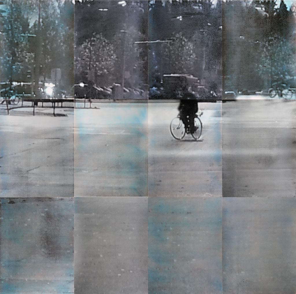 sueño del observador 4, 2013, 300 x 300 cm, acuarela y serigrafía sobre papel